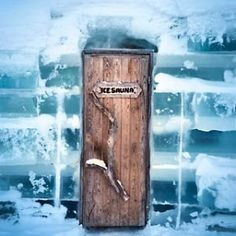 Door to Ice Sauna