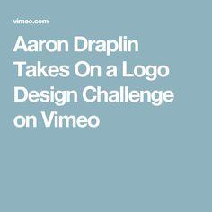 Aaron Draplin Takes On a Logo Design Challenge on Vimeo