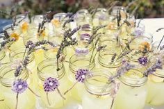 you know how i love mason jars.  And it's lemonade with a touch of purple. What more could you ask for?