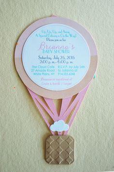 Hot air balloon baby shower invite hot air balloon by hootsieshop. Baby Shower Snacks, Baby Shower Brunch, Baby Shower Cards, Baby Shower Favors, Baby Boy Shower, Baby Shower Decorations, Baby Shower Ballons, Hot Air Balloon, Balloon Party