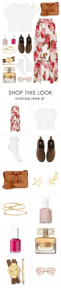 """""""Hey There Delilah"""" by patriciasaysno ❤ liked on Polyvore featuring Monki, Miss Selfridge, Dr. Martens, Kate Spade, Kenneth Jay Lane, Cornelia Webb, Essie, Givenchy and Nine West"""