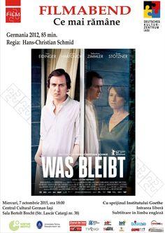 """Seara de film german – """"Was bleibt"""" /""""Ce mai rămîne"""""""