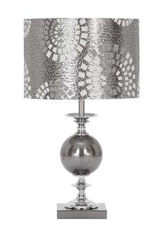 Woodland Imports Designers Metal Glass Table Lamp