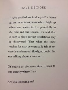 Are you following me? // By Mary Oliver