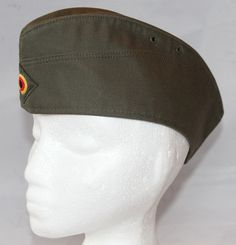 Vintage East or West Germany Cotton Twill Garrison Hat, 1970's to 1980's by ilovevintagestuff on Etsy