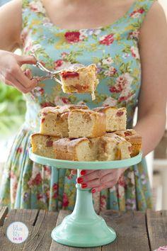 Błyskawiczne ciasto z rabarbarem na oleju | Lawendowy Dom