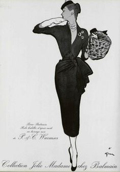 Collection Jolie Madame chez Balmain, 1952