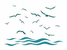 Free Vector Graphics, Free Vector Art, Free Vector Images, Sea Illustration, Black And White Tees, Doodle Patterns, Cartoon Icons, Free Illustrations, Bird Art