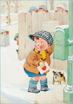 Vintage Art Funny Valentine's Day Postcards - I love remebering the old Valentine's Day Cards that we all gave one another. Funny Valentine, Valentines Day Greetings, Vintage Valentine Cards, Saint Valentine, Valentine Day Cards, Happy Valentines Day, Valentine Heart, Images Vintage, Art Vintage