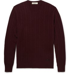 Burberry London - Slim-Fit Cable-Knit Cashmere Sweater|MR PORTER