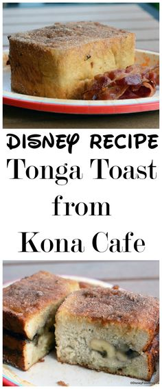 Get the Disney Recipe for Tonga Toast from Kona Cafe in Disney World! Get the Disney Recipe for Tonga Toast from Kona Cafe in Disney World! Disney Dishes, Disney Snacks, Disney Recipes, Disney Drinks, Disney Activities, Breakfast Menu, Breakfast Recipes, Breakfast Ideas, Hawaiian Breakfast