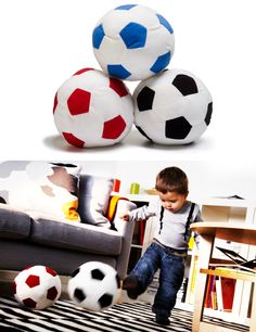 Even the youngest soccer fan can get in on the action with SPARKA soft toy balls!