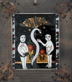 Christian Paintings, Sf, Adam And Eve, Bible Stories, Glass, Sacred Art, Adam An Eve, Drinkware, Corning Glass