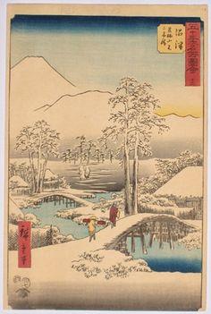Numazu Bridge in the Snow, by Hiroshige