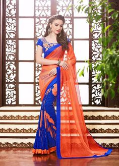 Indian Sari Designer Dress Pakistani Wedding Bollywood Saree Ethnic Partywear #TanishiFashion #DesignerSaree