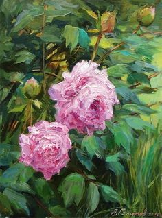 Personal site of artist Azat Galimov. Flowers and Fruits Artist Painting, Garden Art, Peonies, Fruit, Rose, Painting Flowers, Plants, Gifts, Florals