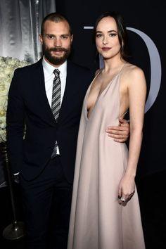 Jamie Dornan & Dakota Johnson at the Fifty Shades Darker premiere in Los Angeles on February 2