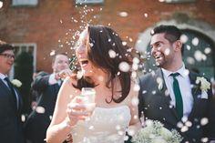 Documentary wedding photography at Fawsley Hall