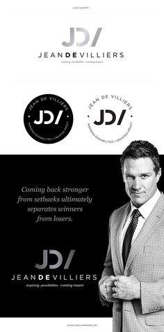 Logo and branding for Jean De Villiers, South African Springbok Rugby captain