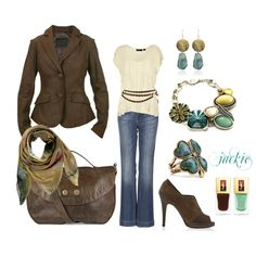 Dress up your jeans...Chocolate and teal