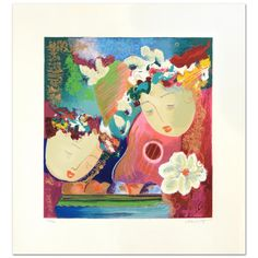 """Lee White! """"Secrets I"""" Limited Edition Serigraph, Numbered and Hand Signed  