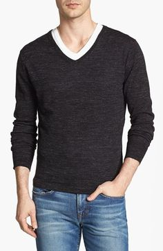 7 Diamonds V-Neck Sweater available at  Nordstrom Mens Fashion Wear 9b55575a690