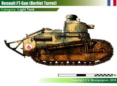 FT.17/18 Tank Gun w/Berliet Turret