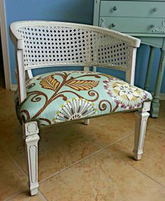 Restyling An Old Cane Back Chair! Looks Great! | Jamie Funk | Pinterest |  Upholstery, Paint Furniture And DIY Furniture