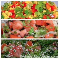 AlmostRawVegan.com ~ I often make these 3 salads in an afternoon and then I have tons of lunch/dinner combo's that are ready at a moments notice! Check it out! Shopping List also included! ;-) ♡♡ http://almostrawvegan.com/2012/06/24/tabouleh/