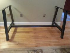 A Metal Table Legs with cross bar brace by DirtFrogFurniture