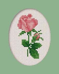 Free Cross Stitch Rose Pattern