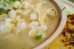MENUDO BLANCO SONORA (tripe soup) ~~~ a traditional soup oftentimes eaten as a cure to a hangover. regional differences abound; the blanco (white) version is from northwestern mexico. [Mexico, Sonora & Sinaloa ] [borderlinespicy]