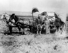 President Lincoln signs the Homestead Act of 1862 resulting in thousands of families heading to the plains. (1886 pictured homesteaders taken in central Nebraska)