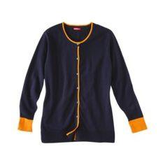 Merona® Women's Plus-Size Long-Sleeve Cardigan Sweater - Assorted Prints