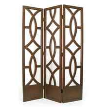 Charleston 3 Panel Room Divider in Brown