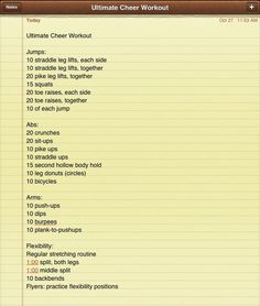 cheer workouts - Google Search