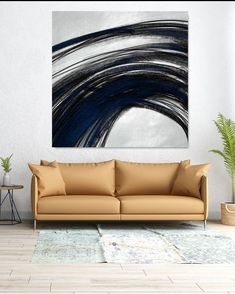 Large Canvas Art - Abstract Painting on Canvas, Contemporary Wall Art, Original Oversize Painting Large Artwork, Large Canvas Art, Large Painting, Canvas Wall Art, Black White Art, Office Wall Decor, Bathroom Wall Art, Contemporary Wall Art, Original Art