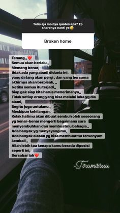 Quotes Rindu, Message Quotes, Reminder Quotes, Heart Quotes, Life Quotes, Twitter Quotes Funny, Funny Quotes, Broken Home Quotes, Positive Vibes Quotes