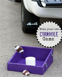 Make an easy to transport cornhole game! #DIY #Tailgate