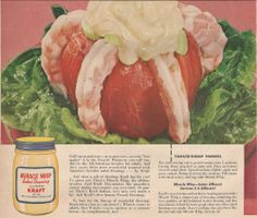 Miracle Whip's Tomato Shrimp Pinwheel from a vintage ad