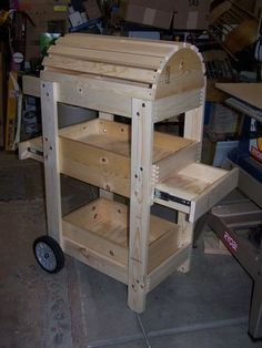 Saddle / Tack Caddy - we will have to make our own since I can't find one with wheels and drawers.