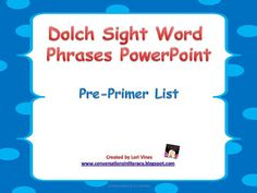 ... Sight Words on Pinterest   Sight Words, Reading Fluency and Dolch: https://www.pinterest.com/robingoolsby1/sight-words/