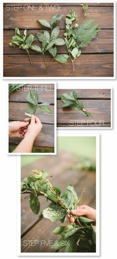 Stylish, effortless and green! A DIY Greenery Garland in 6 easy steps on Style Me Pretty ~ http://stylemepretty.com/2012/08/10/spring-inspired-photo-shoot-diy-greenery-garland-by-cmostr-photography/  					 http://www.stylemepretty.com/2012/08/10/spring-...  					    					    																					  							93