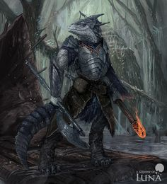 Northern crocodile hunter by ThemeFinland on DeviantArt Dungeons And Dragons Characters, D&d Dungeons And Dragons, Dnd Characters, Fantasy Characters, Fantasy Character Design, Character Design Inspiration, Character Art, Character Concept, Character Ideas