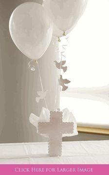 Cross Doves Balloon Centerpiece -Set To Celebrate