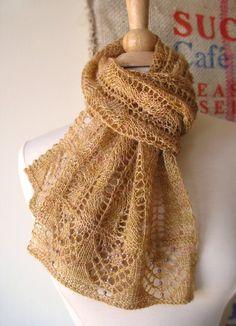Restless Lace Scarf Knitting Pattern by bluepeninsula on Etsy, $6.00