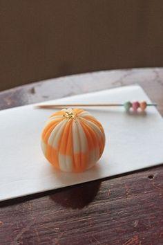 Orange wagashi