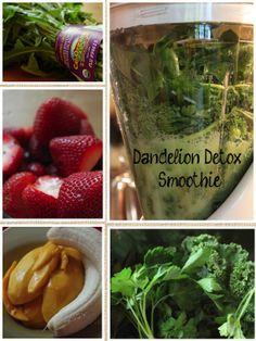 Curious About Health - Dandelion Detox Smoothie