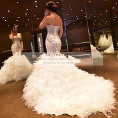 Image result for mermaid style dress with extreme long train