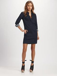 I'm not usually a denim dress kinda lady but this would be such a cute and fun winter dress - so compatible with tights, boots, scarves and sweaters.